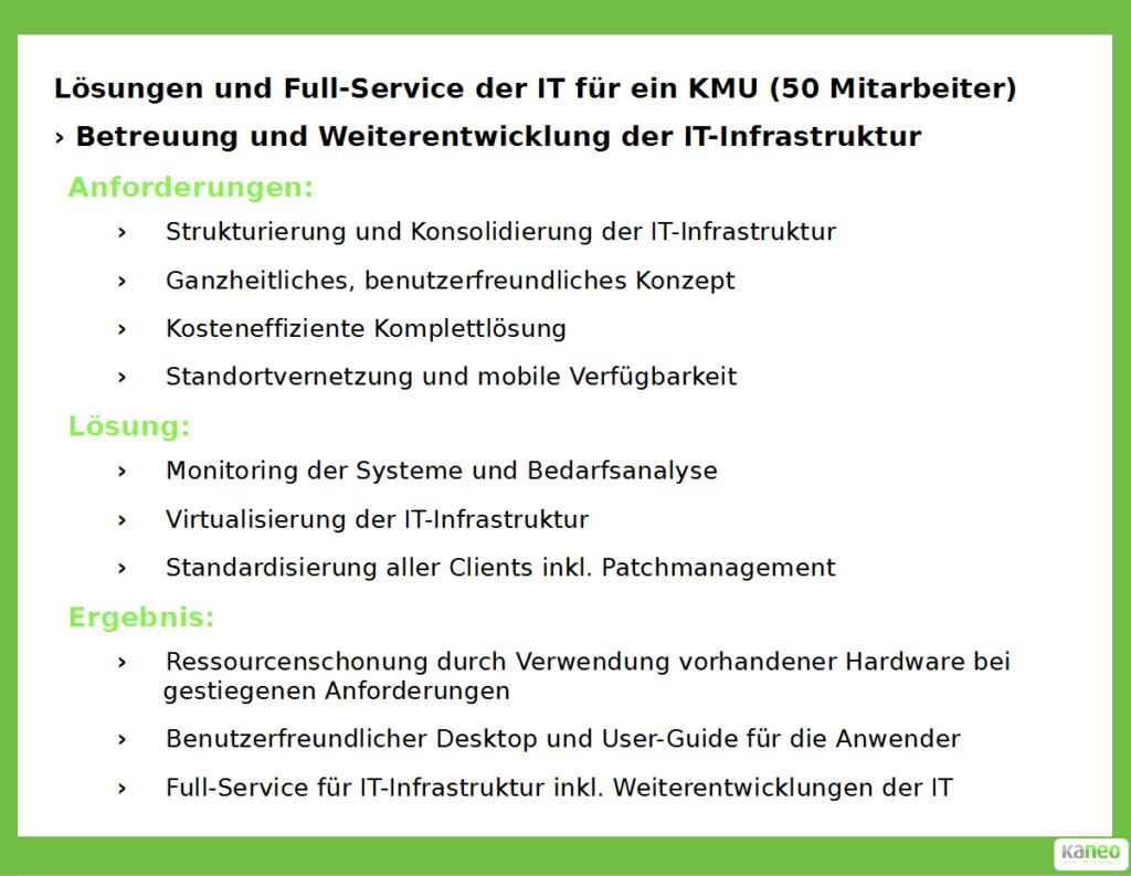 kaneo GmbH - Lösungen und Full-Service der IT für ein KMU