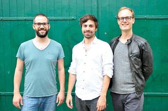 Gründer von enffi v.l.n.r. Chris, Max, Gerrit