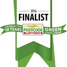 Logo der 10 Jahre Postcode Lottery Green Challenge