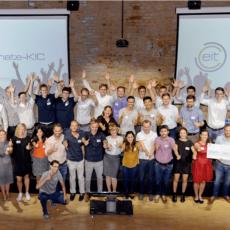 Gruppenfoto der Climate-KIC Accelerator Start-ups bei der Cleantech Venture Competition