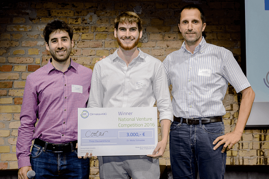 Coolar gewinnt 1. Platz der Cleantech Venture Competition, Foto: Climate-KIC/S.Röhl