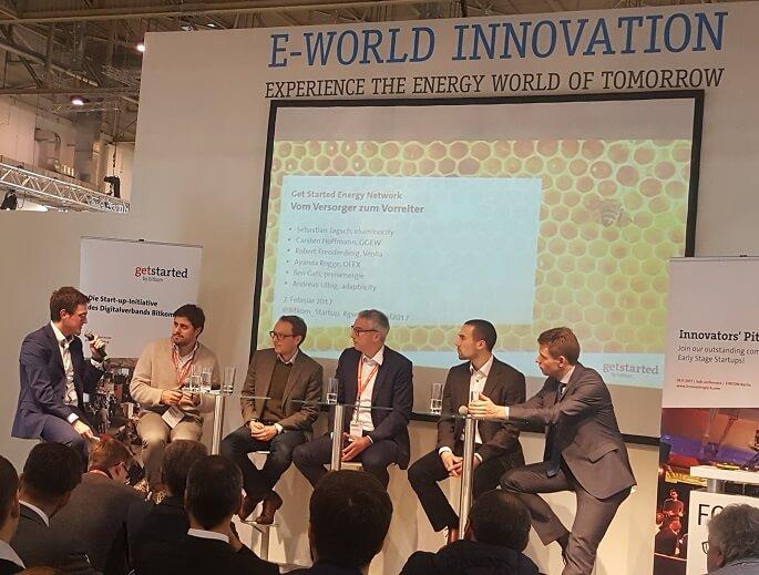 """BITKOM Energy Network auf dem Innovation Forum der E-world 2017, Podium zum Thema """"Vom Versorger zum Vorreiter"""", Foto: Technewable.com, KR"""