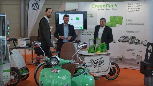 GreenPack Akkus, eine von vielen grünen Lösungen auf der Hannover Messe