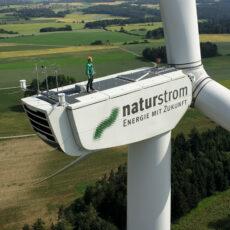 Windkraftanlage der NATURSTROM AG
