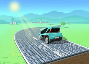 Sehen so die Straßen der Zukunft aus? Muster einer Solarstraße Bild: Solmove