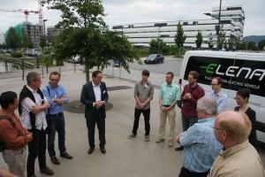Verabschiedung der TN der Smart Grids #bloggertour durch GF Arno Ritzenthaler von SmartGridsBW