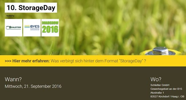 10. StorageDay der Solar Allianz