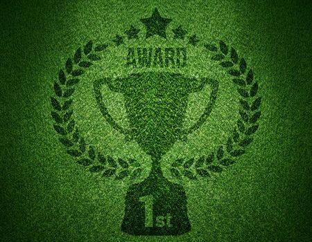 Grüner Pokal für den ersten internationalen Energiewende Award für grüne Startups
