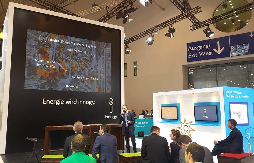 Gründer und CEO von Kiwigrid, Dr. Carsten Bether präsentierte am 08.02.17 auf der E-world 2017