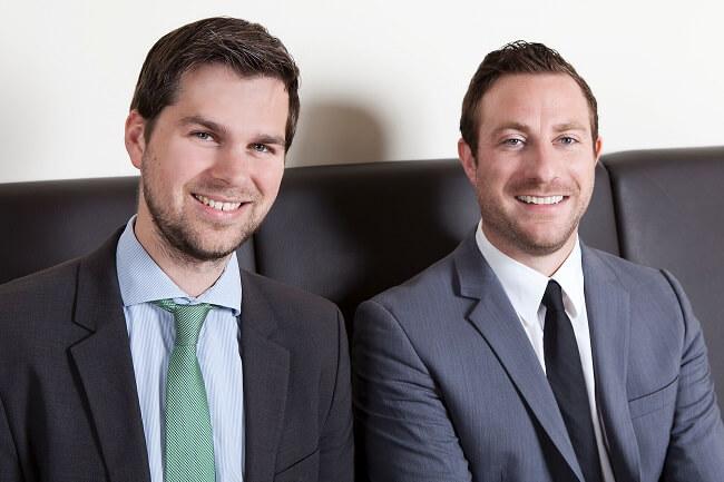Gründer von ecoligo - Markus Schwaninger (l.i.B.) und Martin Baart (r.i.B.)