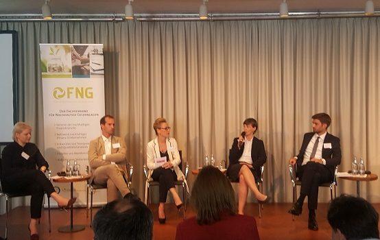 Forum Nachhaltige Geldanlagen - FNG Dialog Podium zur Frage Nachhaltige Geldanlangen und Menschenrechte