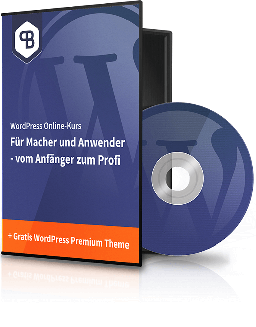 CD-Cover vom WordPress Online Kurs von Pascal Bajorat