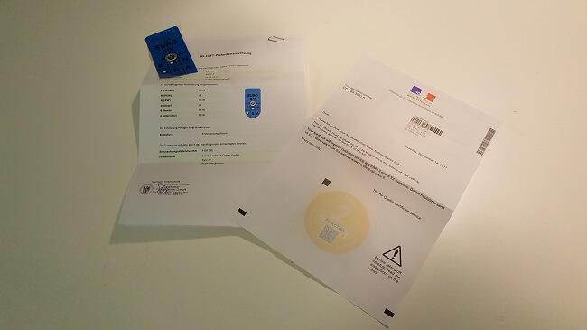 Österreichisches Umwelt-Pickerl und französische Air Quality Certificate