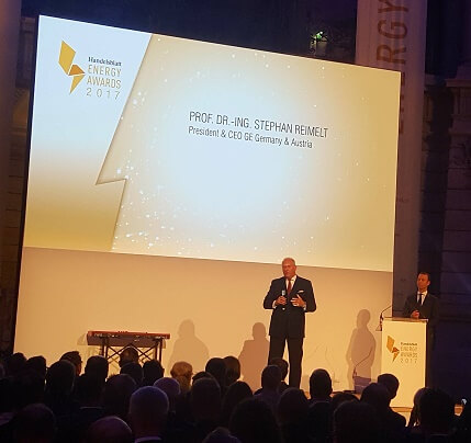 Prof. Dr. Stephan Reimelt, President und CEO General Electric bei den Energy Awards 2017