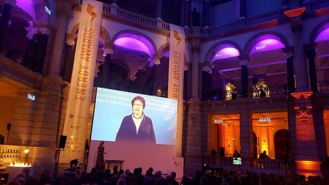 Videobotschaft von Schirmherrin Brigitte Zypries, Ministerin für Wirtschaft und Energie anlässlich Energy Awards 2017