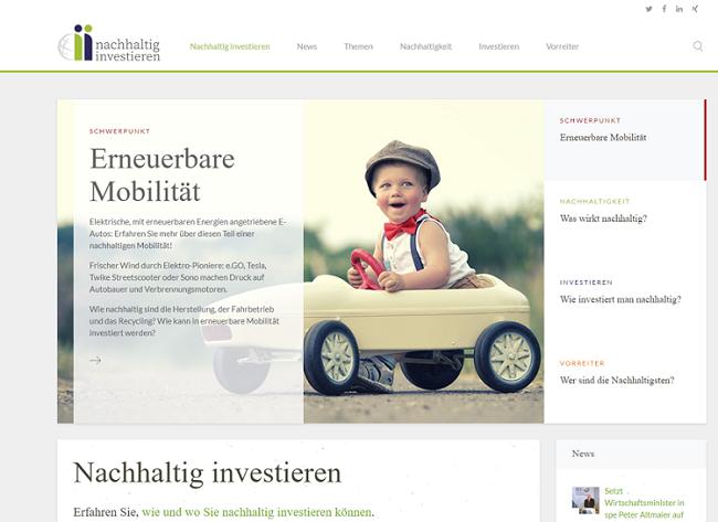 Grüne Geldanlagen und Investments