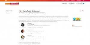 Green Events: Open Table Diskussion im Rahmen der Berliner Energietage 2018