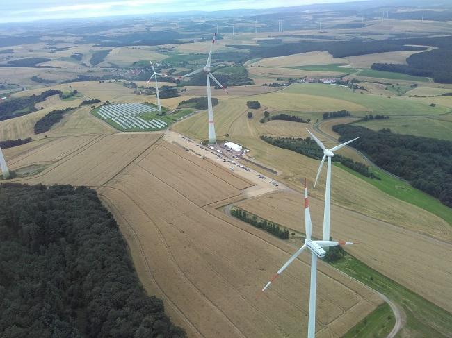 Windenergie-Anlagen Foto: MW