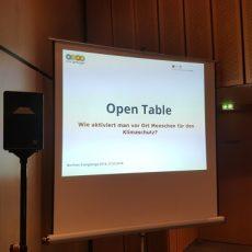 5. Open Table bei den Berliner Energietagen 2018: Wie für den Klimaschutz aktivieren?