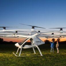 Voll elektrischer Senkrechtstarter Volocopter