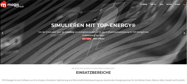 Screenshot magis consult GmbH