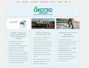 Screenshot Ökotec GmbH