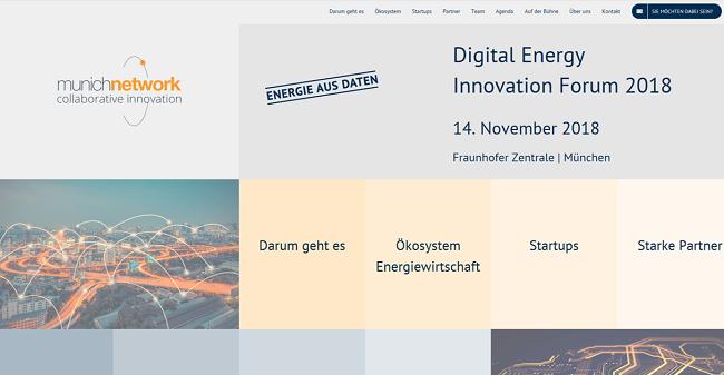 Update #1: Digital Energy Innovation Forum - Screenshot