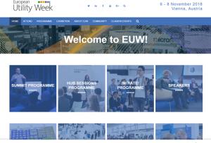 European Utility Week #EUW18 - Screenshot