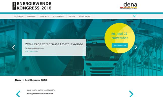 Update #1: dena Energiewende Kongress 2018 - Screenshot