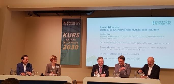 Europas Innovationsökosystem nachhaltige Energie - Paneldiskussion beim dena-Energiewende Kongress 2018