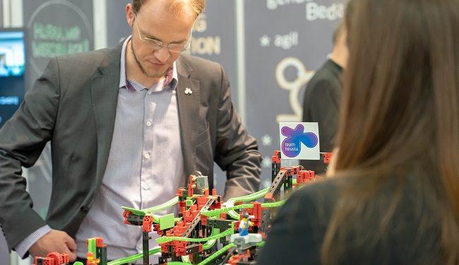 Vorführung des Murmelbahn-Demoprojekts auf der #Eworld2019 als Use Case für Wartung und Monitoring von Kraftwerksanlagen