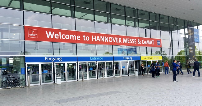 Messeeingang zur Hannover Messe