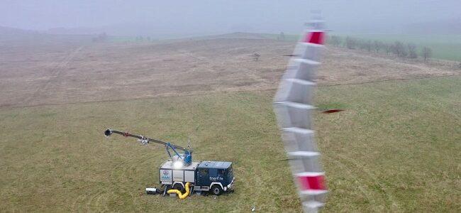 Flugwindkraftanlagen Feldtest aus der Höhe