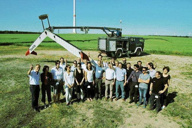 Das EnerKite Team bei Feldtests