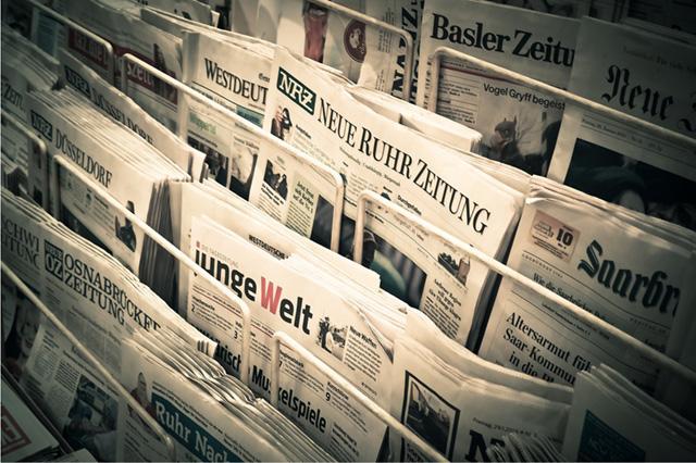 Zeitungen beschreibt das Service Angebot für Pressearbeit
